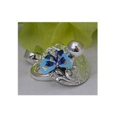 Статуэтка из серебра «Пустышка» с голубым элементом
