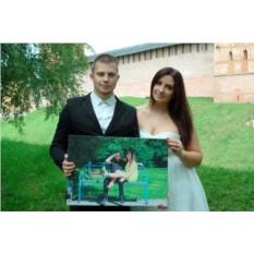 Фотография со свадьбы на холсте