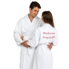 Комплект из двух халатов с именной вышивкой