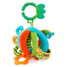 Мягкая игрушка-погремушка Шарик с прорезывателем