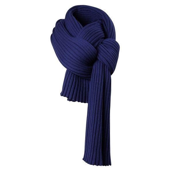 Темно-синий палантин Mono