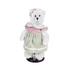 Мягкая игрушка на подставке Мишка в летнем платье