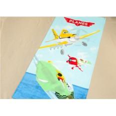 Детское махровое полотенце 75х150 Самолетики