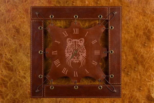 Часы из кожи Морда тигра