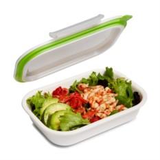 Бело-зеленый ланч-бокс Bento Box
