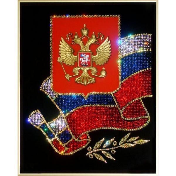 Картина с кристаллами Swarovski Российская символика