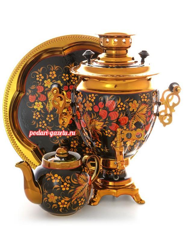 Набор для чаепития Хохлома с автоматическим отключением