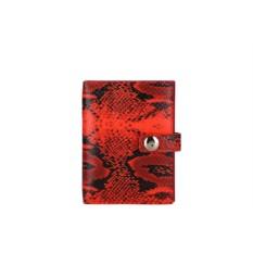 Красная женская обложка для документов Leo Ventoni