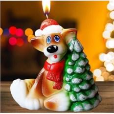 Новогодняя свеча «Помощник Деда Мороза»