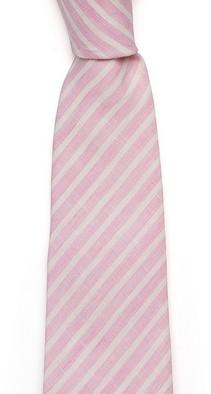 Розовый в полоску галстук Fumagalli из льна