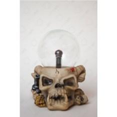 Электрический плазменный шар Череп