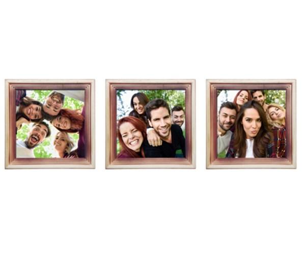 Триптих из трех рамок с вашими фото «Яркий кадр»
