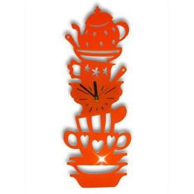 Настенные часы Посуда, оранжевые