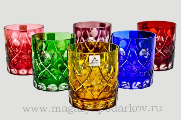 Набор 6 стаканов для виски Arnstadt Crystal Юлия