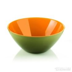Салатница My fusion зелено-оранжевого цвета
