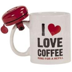 Кружка со звонком I Love Coffee