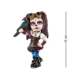 Статуэтка в стиле Фэнтези Девочка с вороном