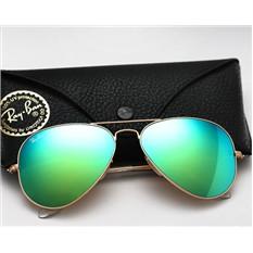 Зеленые зеркальные очки Ray Ban Aviator