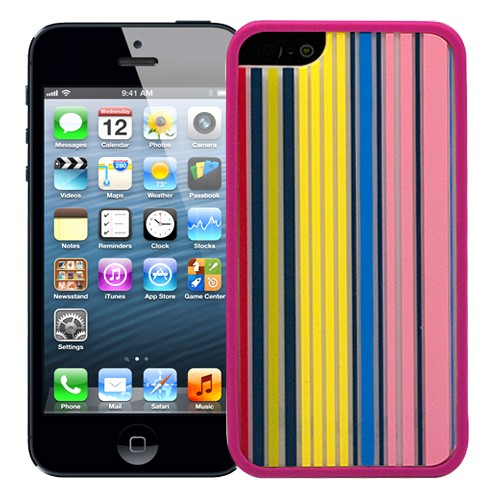 Чехол для iPhone 5/5S Pink with stripes