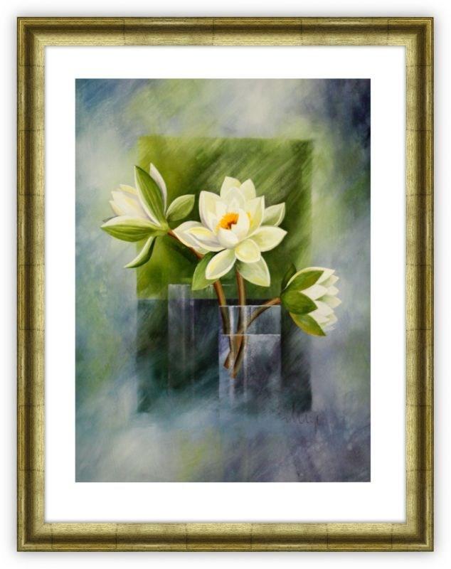 Репродукция Белые водяные лилии