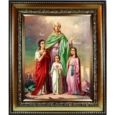 Икона на холсте Вера, Надежда, Любовь и мать их София