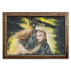Картина из каменной крошки Воительница (40х60 см)