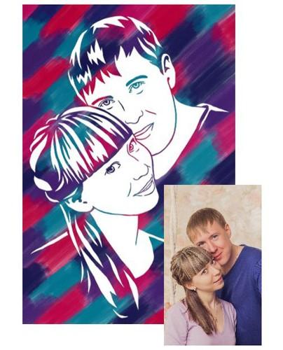 Рисунок по фотографии пары своими руками