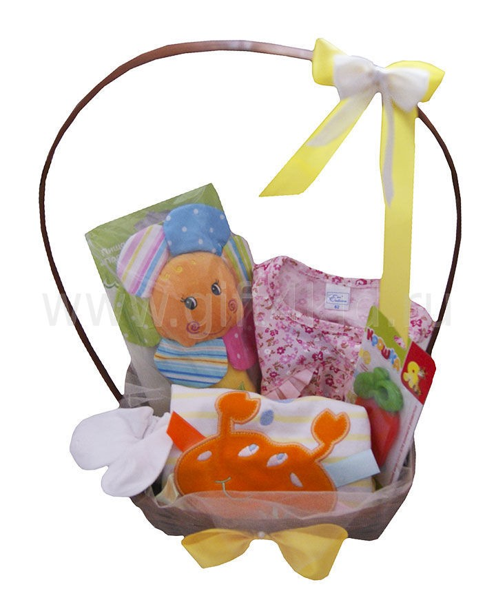 Подарочная корзина для девочки Лето
