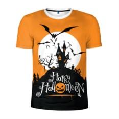 Мужская спортивная футболка Happy Halloween