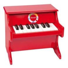 Деревянное красное пианино