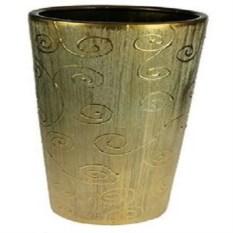 Золотистая декоративная ваза