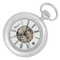 Карманные мужские часы с серебром