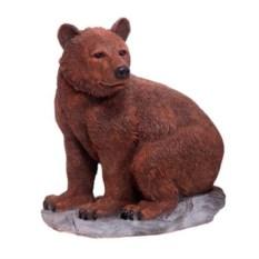 Декоративная садовая фигура Медведь на камне