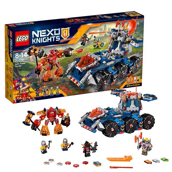 Конструктор Lego Nexo Knights Башенный тягач Акселя