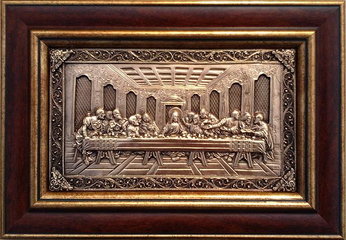 Малая картина из металла Тайная вечеря
