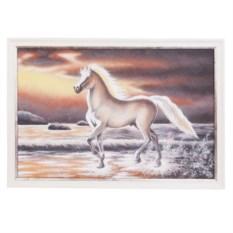 Картина в серебристой раме Лошадь