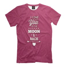Футболка I love you to the moon