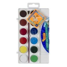 Краски с кистью Акварель 12 цветов от JOVI