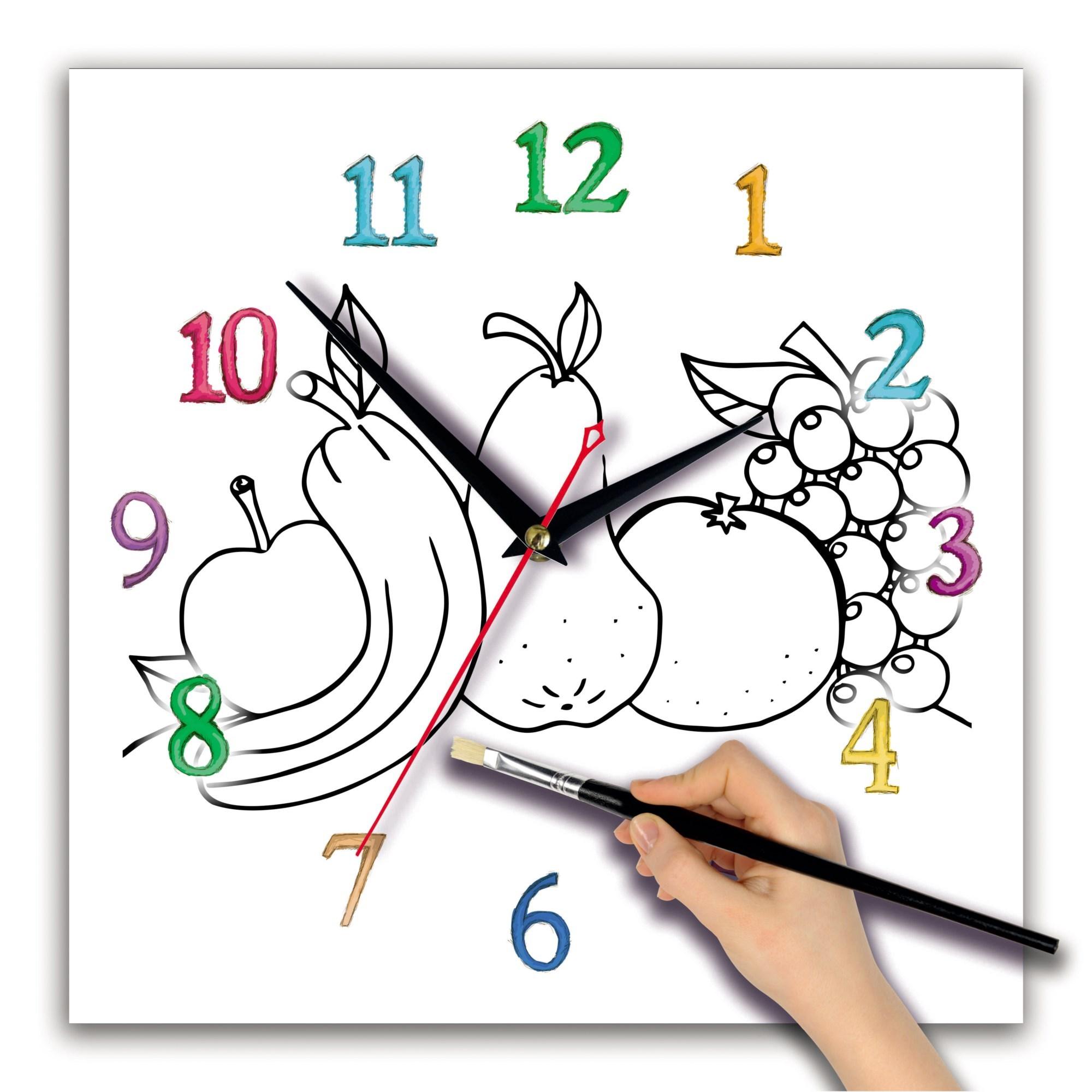 Детские часы-раскраска Фрукты