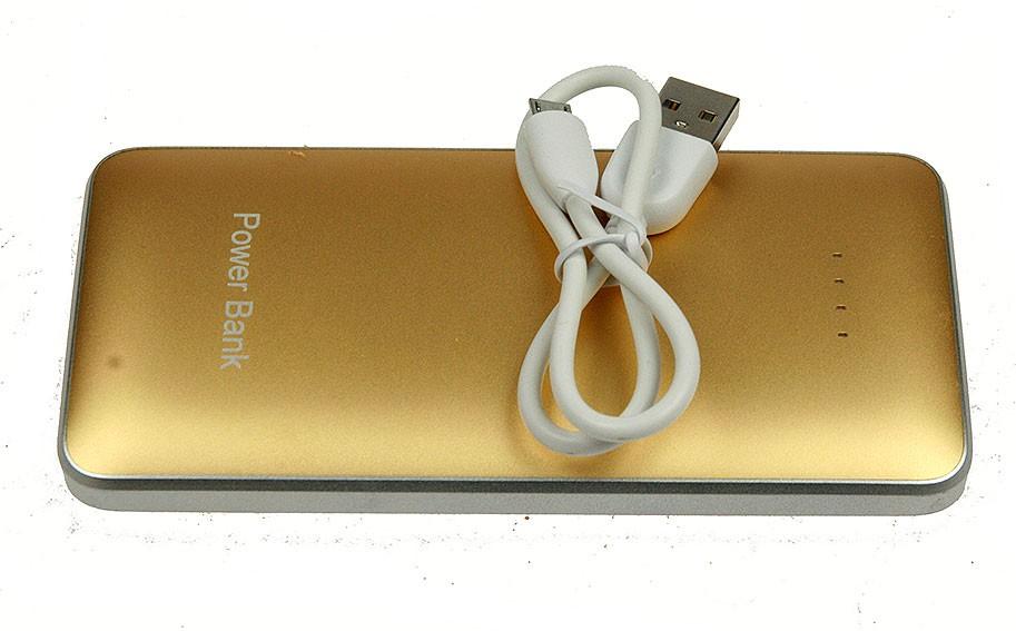 Золотое портативное зарядное устройство