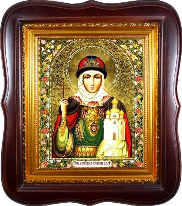 Ольга Святая равноапостольная княгиня. Икона на холсте