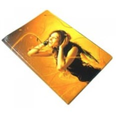 Обложка на паспорт Девушка в наушниках