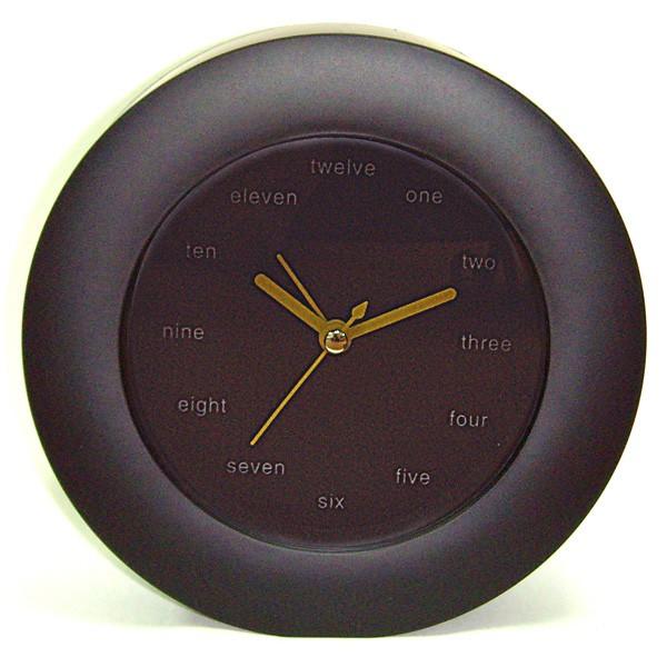 Часы будильник настольные Английские черные