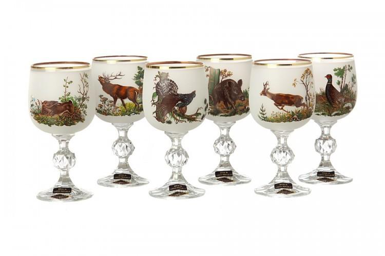 Набор бокалов для вина Флора и Фауна(белый)