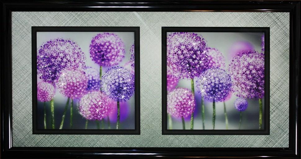 Картина с кристаллами Swarovski Натюрморт одуванчики