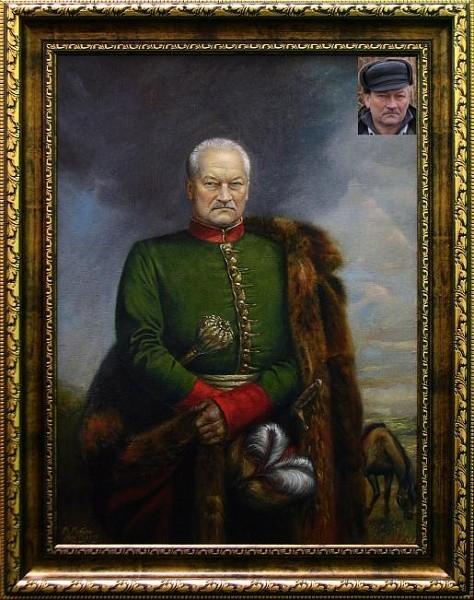 Портрет командующего на холсте по фото
