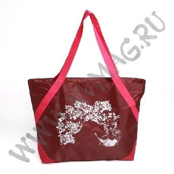 Бордовая ляжная сумка