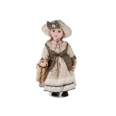 Фарфоровая кукла с собачкой