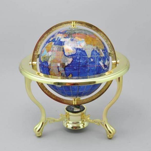 Декоративный глобус (синий), диаметр 15 см