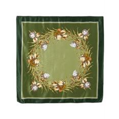 Шелковый павлопосадский платок с рисунком Аметист